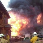 pigeon forge cabins on fire