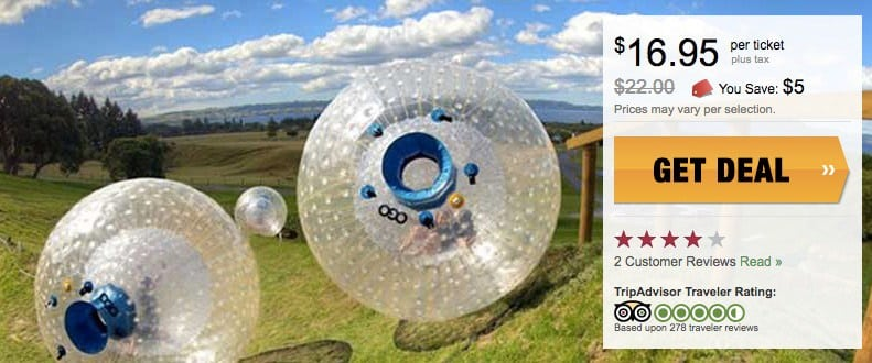 pigeon forge zorb coupon