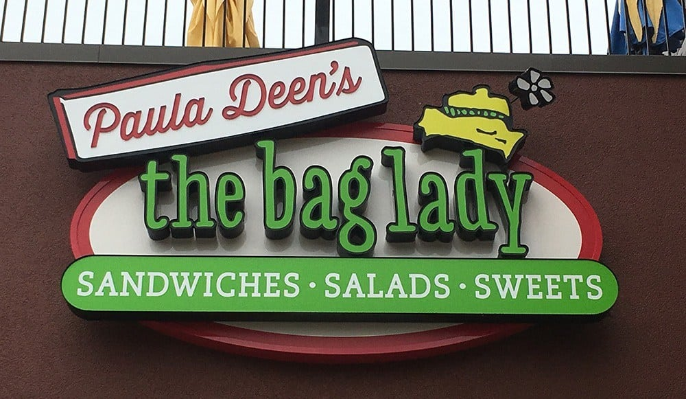 paula deen cafe the bag lady pigeon forge