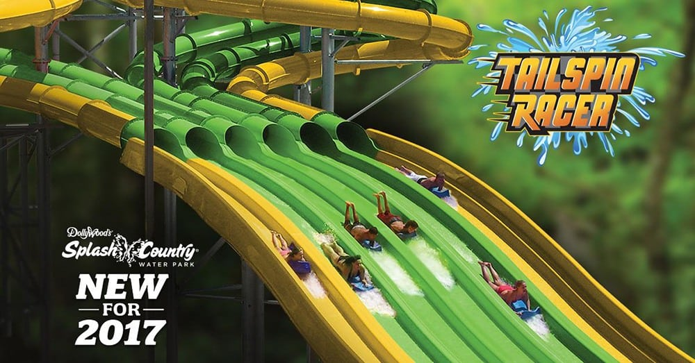 splash country new water slide 2017 Tailspin Racer
