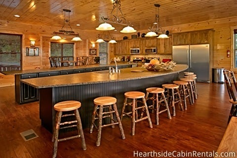 King of the Mountain cabin kitchen