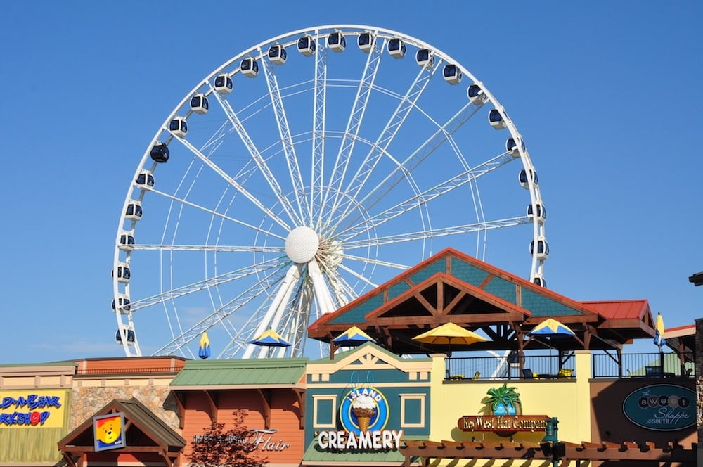 The Ferris wheel at The Island in Pigeon Forge.