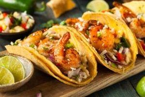 Tasty shrimp tacos.