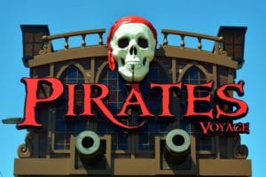 Pirates Voyage sign in Pigeon Forge