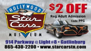 star cars gatlinburg coupon