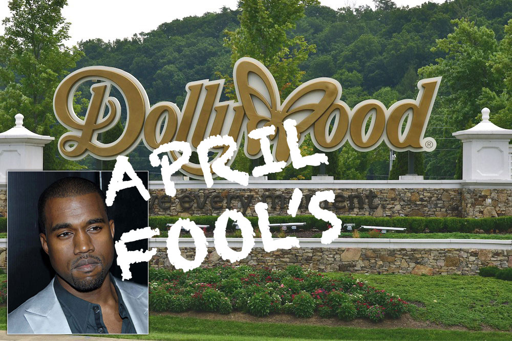 April Fool's Joke 2019 – Kanye West Buys Dollywood Theme Park for $130 Million