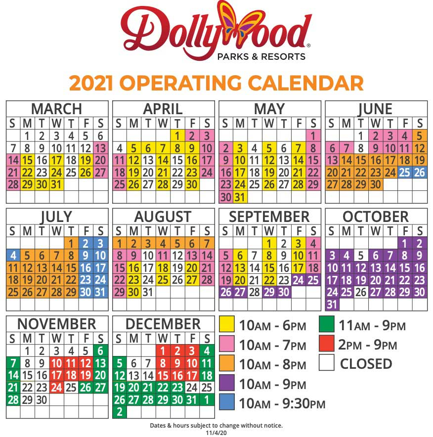 dollywood schedule 2021